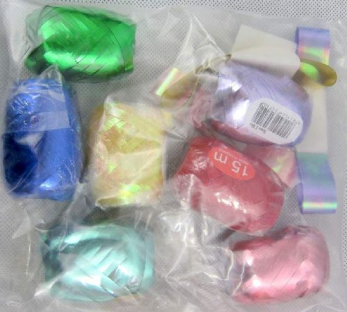 Ribbon 10 Assorted Colours for Wrapping Presents at Christmas or Birthdays